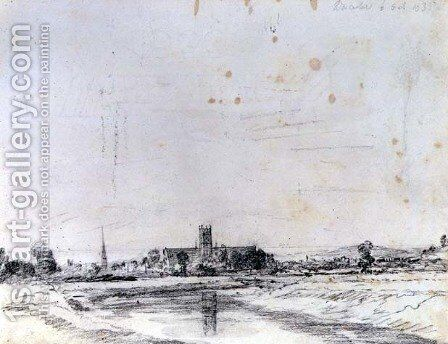 Worcester Cathedral from the South by John Constable - Reproduction Oil Painting