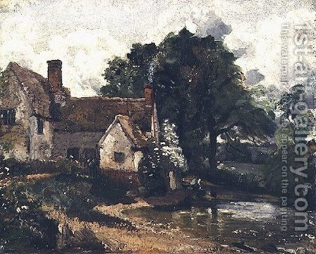 Willy Lott's House, 1816 by John Constable - Reproduction Oil Painting