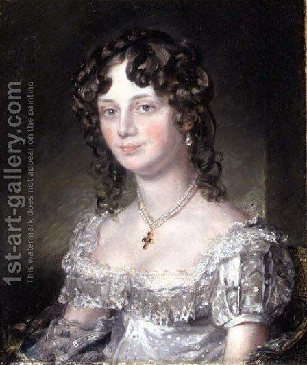Portrait of Mrs Mary Fisher, wife of John Fisher, Archdeacon of Berkshire, 1816 by John Constable - Reproduction Oil Painting