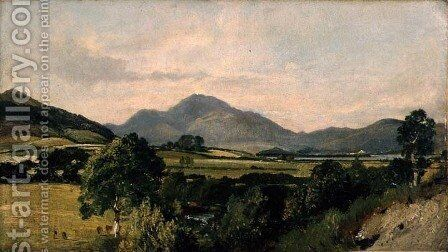 Lake District Scene by John Constable - Reproduction Oil Painting