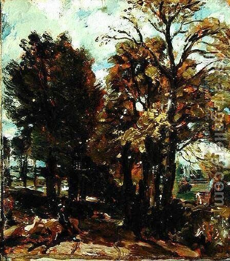 Sketch of a Lane at East Bergholt, c.1810 by John Constable - Reproduction Oil Painting