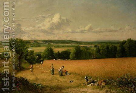 Wheat Field by John Constable - Reproduction Oil Painting