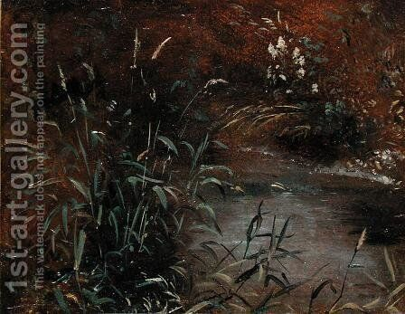 Rushes by a Pool, c.1821 by John Constable - Reproduction Oil Painting