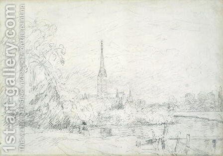 Salisbury Cathedral from the North West, 1829 by John Constable - Reproduction Oil Painting
