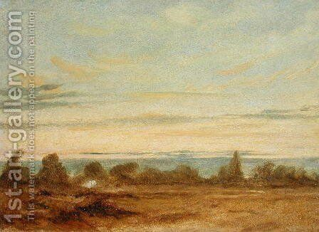 Summer   Evening Landscape by John Constable - Reproduction Oil Painting