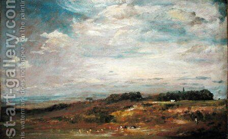 Hampstead Heath with Bathers by John Constable - Reproduction Oil Painting