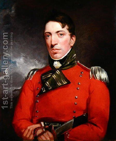 Captain Richard Gubbins, c.1804-05 by John Constable - Reproduction Oil Painting