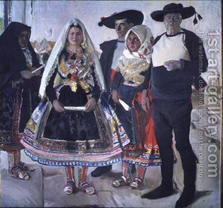 Typical Lagarterans  1912 by Joaquin Sorolla y Bastida - Reproduction Oil Painting