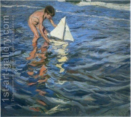 The Young Yachtsman, 1909 by Joaquin Sorolla y Bastida - Reproduction Oil Painting