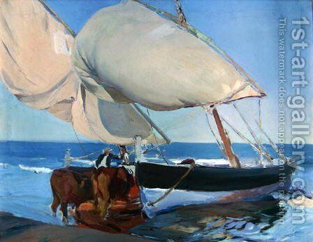 Sailing Boats, 1916 by Joaquin Sorolla y Bastida - Reproduction Oil Painting