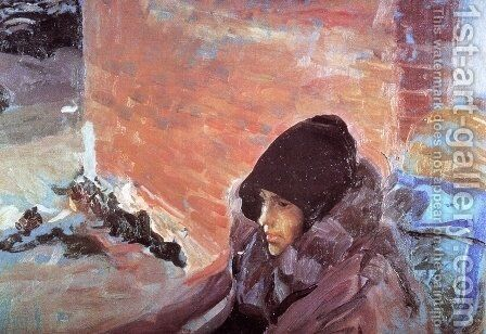 Portrait of Maria Convalescing by Joaquin Sorolla y Bastida - Reproduction Oil Painting