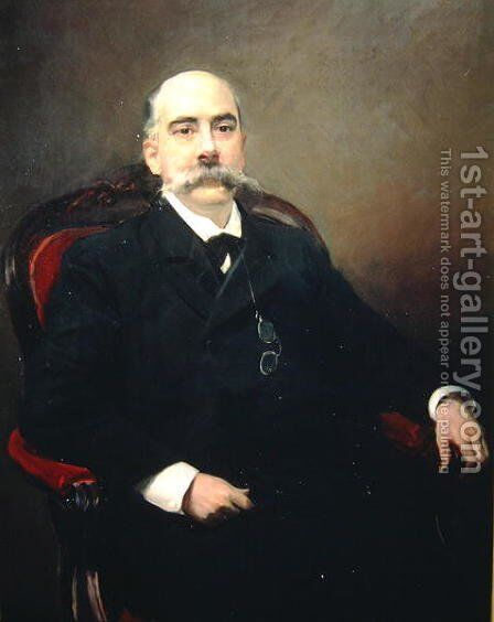 Portrait of Emilio Castelar y Ripoll, Spanish statesman, orator and writer by Joaquin Sorolla y Bastida - Reproduction Oil Painting