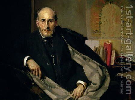 Portrait of Santiago Ramon y Cajal (1852-1934) 1906 by Joaquin Sorolla y Bastida - Reproduction Oil Painting
