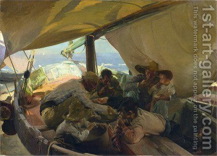 Lunch on the Boat, 1898 by Joaquin Sorolla y Bastida - Reproduction Oil Painting