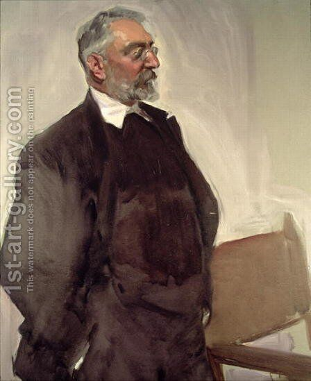 Portrait of Miguel de Unamuno y Jugo (1864-1936) c.1920 by Joaquin Sorolla y Bastida - Reproduction Oil Painting