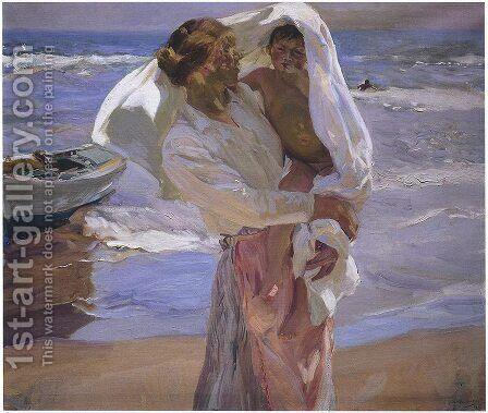 Just Out of the Sea, 1915 by Joaquin Sorolla y Bastida - Reproduction Oil Painting