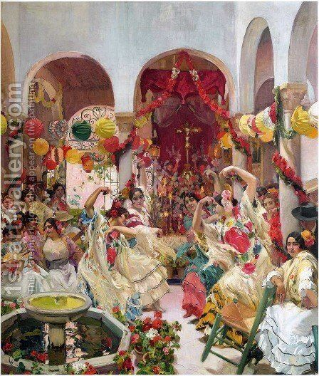 Seville by Joaquin Sorolla y Bastida - Reproduction Oil Painting