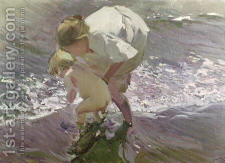 Bathing on the Beach, 1908 by Joaquin Sorolla y Bastida - Reproduction Oil Painting