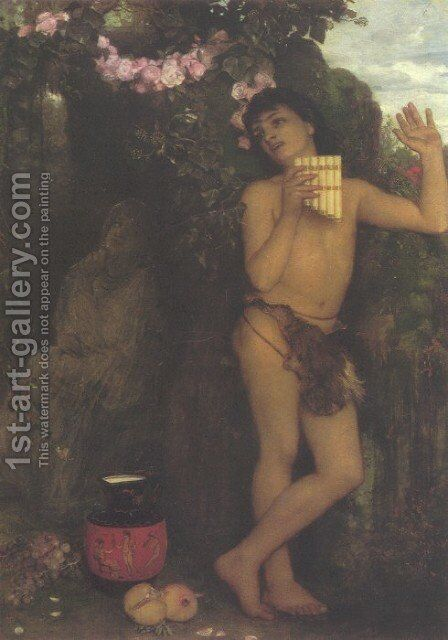 Amaryllis 1866 by Arnold Böcklin - Reproduction Oil Painting