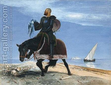 The Adventurer 1882 by Arnold Böcklin - Reproduction Oil Painting