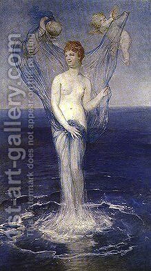 Birth of Venus  1868 by Arnold Böcklin - Reproduction Oil Painting