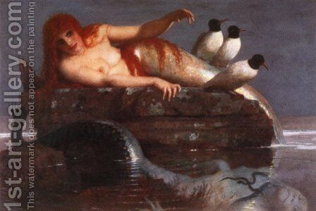 Calm Sea  1887 by Arnold Böcklin - Reproduction Oil Painting