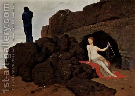 Odysseus and Calypso, 1883 by Arnold Böcklin - Reproduction Oil Painting