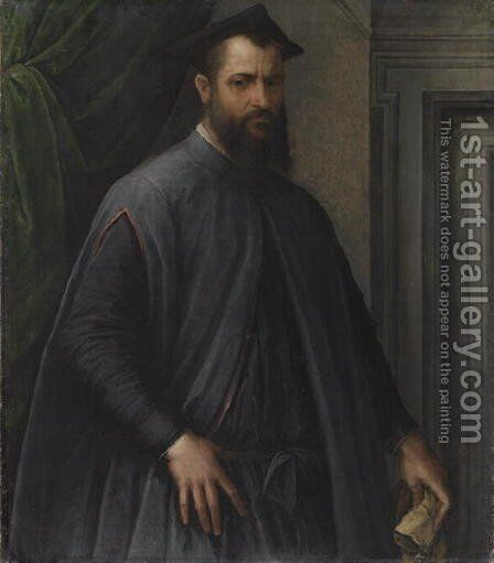 Portrait of a Prelate  c.1540 by Jacopino del Conte - Reproduction Oil Painting