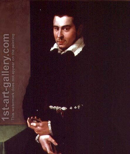 Portrait of a Member of the Scarlatti Family by Jacopino del Conte - Reproduction Oil Painting