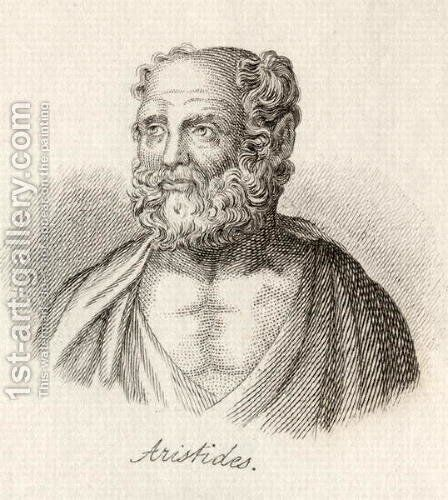 Aristides (2nd Century Greek Christian writer, author of the Apology of Aristides) by J.W. Cook - Reproduction Oil Painting
