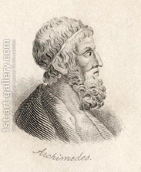 Archimedes of Syracuse by J.W. Cook - Reproduction Oil Painting