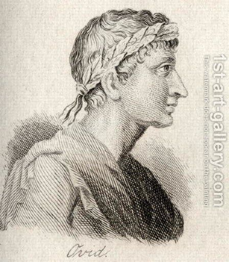 Ovid by J.W. Cook - Reproduction Oil Painting