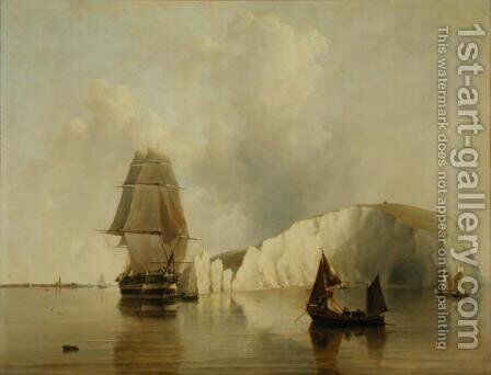 Off the Needles, Isle of Wight by Edward William Cooke - Reproduction Oil Painting