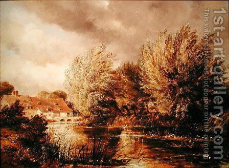 Beard-Mill, near Oxford by Edward William Cooke - Reproduction Oil Painting