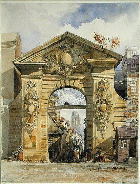 Porte Guillaume Leon, Rouen by Edward William Cooke - Reproduction Oil Painting