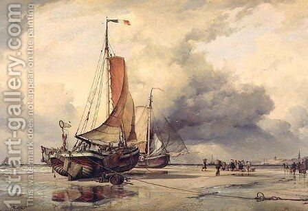 Dutch Pincks, Scheveningen, 1860 by Edward William Cooke - Reproduction Oil Painting