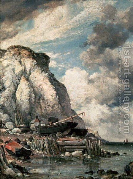 A Bit of Bonchurch in the Olden Times by Edward William Cooke - Reproduction Oil Painting