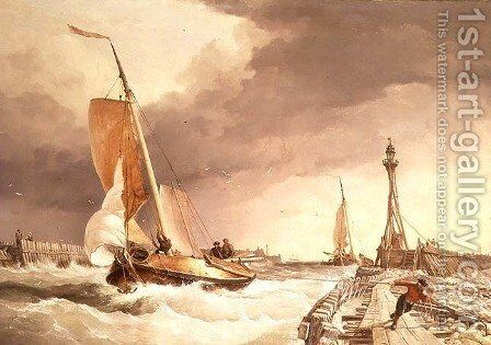 Seascape 2 by Edward William Cooke - Reproduction Oil Painting