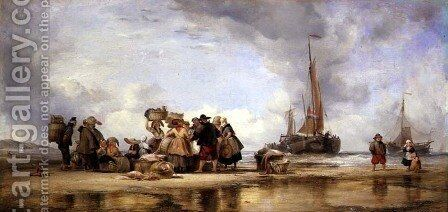 Scheveningen Beach, 1839 by Edward William Cooke - Reproduction Oil Painting