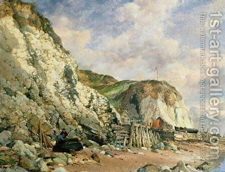 Bonchurch by Edward William Cooke - Reproduction Oil Painting