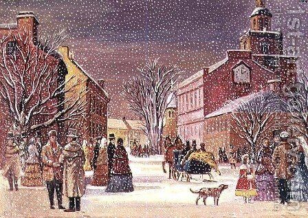 Winter in Pennsylvania by James Cooper - Reproduction Oil Painting
