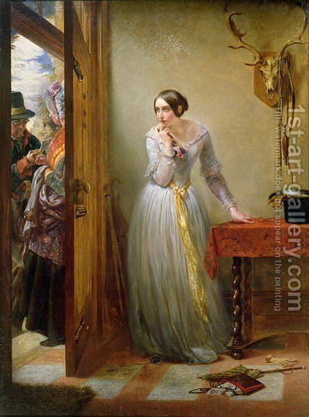 Palpitation, 1844 by Charles West Cope - Reproduction Oil Painting