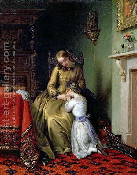 Prayertime 1854 by Charles West Cope - Reproduction Oil Painting