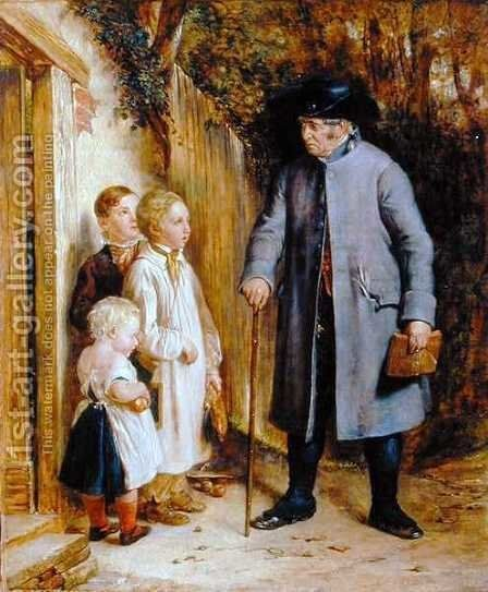 The Village Schoolmaster, 1881 by Charles West Cope - Reproduction Oil Painting