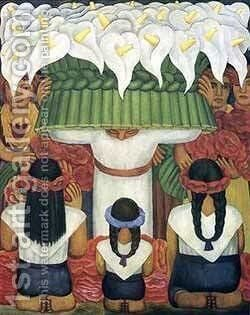 Feast Of Santa Anita 1931 by Diego Rivera - Reproduction Oil Painting
