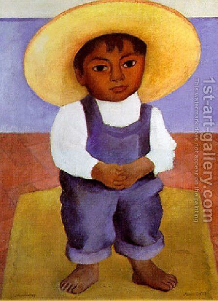 Retrato De Ignacio by Diego Rivera - Reproduction Oil Painting