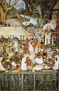 The Zapotec Civilization by Diego Rivera - Reproduction Oil Painting