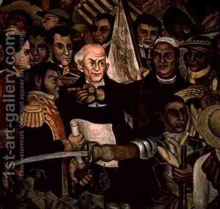 The Tribunal of the Inquisition (detail from mural cycle) by Diego Rivera - Reproduction Oil Painting