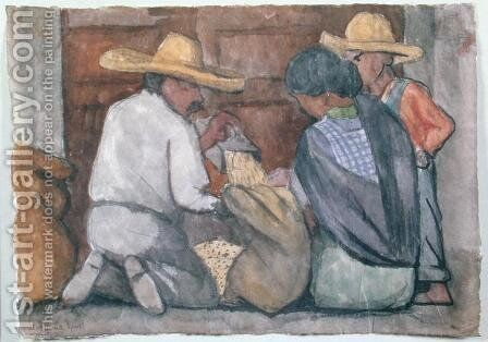 Grain Collectors, 1934 by Diego Rivera - Reproduction Oil Painting