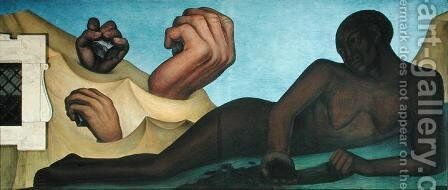 Detroit Industry-2, 1933 by Diego Rivera - Reproduction Oil Painting